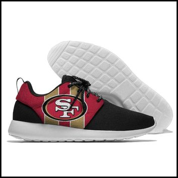 San Francisco 49ers Athletic Lace Up Sport Running Shoes Sports Gift