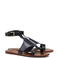Tory Burch Perforated Logo Flat Sandal