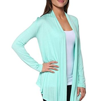 Women's Light Weight Open Front Cardigan Sweater Made in USA