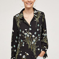 Draped Flora Buttondown