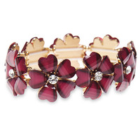 Shimmer Flower Stretch Bracelet | Wet Seal
