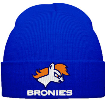 my little pony bromy little pont broncos beanie hat