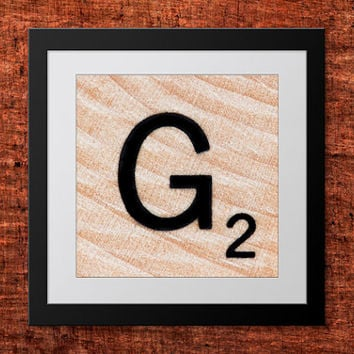 DIY Wall Art, Letter G-Personalized Word Art, Instant Download, Printable Letter, Scrabble Wall Art, Alphabet Art, Downloadable Image, Print