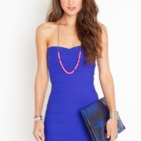 Sweetly Bound Dress - Electric Blue in  Clothes Dresses at Nasty Gal