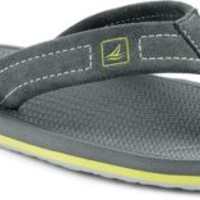 Sperry Top-Sider Sharktooth Flip-Flop Gray, Size 10M  Men's Shoes