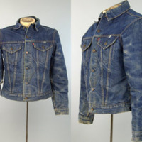 60s Levis Big E Indigo Denim Distressed Blanket Lined Denim Jean Jacket - Edit Listing - Etsy