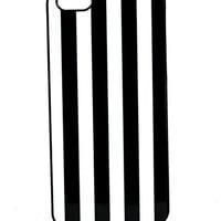 Black and White Vertical Stripe Iphone 5 Case Gothic Beetlejuice Plastic
