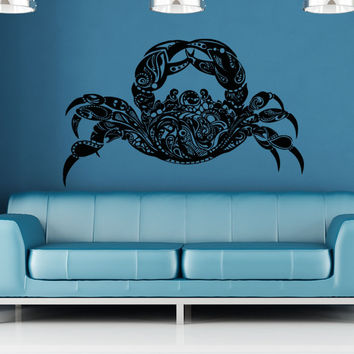 Vinyl Wall Decal Sticker Abstract Crab #OS_AA1381