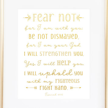 Fear Not - Isaiah 41:10 - Christian Art