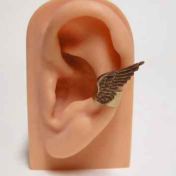 tiny Angel Feather Wings Ear Cuff