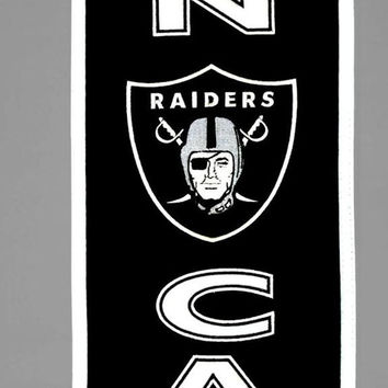 Oakland Raiders Wool Man Cave Banner