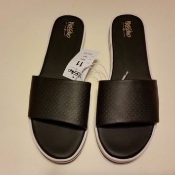 Mossimo Pool Slides Sandals Size 11 new Black