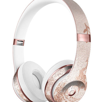 Rose Gold Lace Pattern 3 Full-Body Skin Kit for the Beats by Dre Solo 3 Wireless Headphones