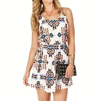 WhiteMulti Aztec X Back Dress