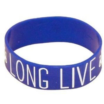 Long Live Blue Rubber Bracelet