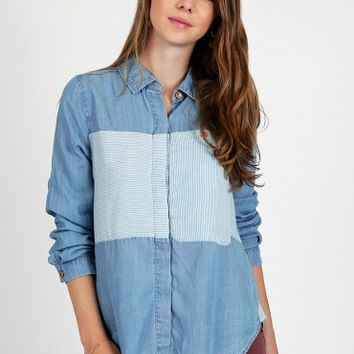 New Day Chambray Top