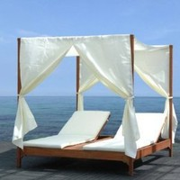 Clevedon Outdoor Patio Canopy Day Bed Lounger