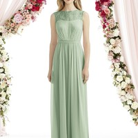 After Six by Dessy 6734 Long Lace and Chiffon Bridesmaid Dress