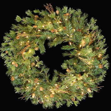 "Artificial Christmas Wreath - 30 ""  - Mixed Country Pine"