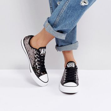 Converse Chuck Taylor Sneakers In Black Sequin at asos.com 8d54695b82