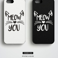 Cat lover Gift iPhone 6 Case Cat iPhone 6S Case Meow iPhone 6S Case Cute Cat iPhone Case Gift for her Daughter Gift Kitten iPhone SE Case