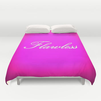 Flawless Hot Pink Duvet Cover by 2sweet4words Designs | Society6