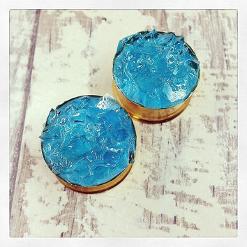 Say My Name - Heisenberg Resin Plugs - Double Sided - Choose Your Colors - Double Flare