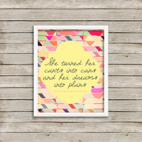 She Turned Her Can'ts Into Cans - Wall Art, Print 8 x 10 INSTANT Digital Download Printable