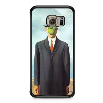 The Son of Man Apple Rene Magritte Samsung Galaxy S6 Edge case