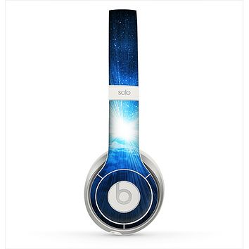 The Bright Blue Earth Light Flash Skin for the Beats by Dre Solo 2 Headphones