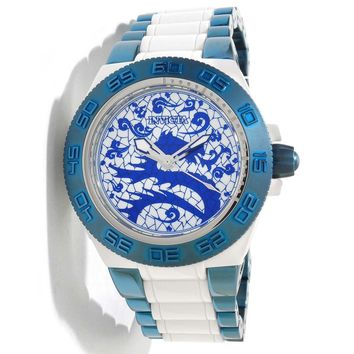 Invicta 11546 Men's Subaqua Sport Artist Dragon Blue White Dial Plastic and Stainless Steel Watch