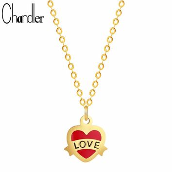 Chandler New Forever Love Letter Necklace Infinite Fashion Faith Hope Jewelry Romantic Heart Femme Collares Collier Lovers Gifts