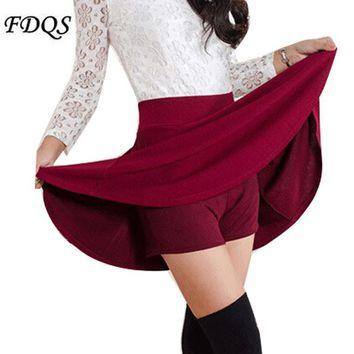 Women Skirt spring high waist pleated
