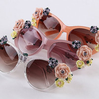 Vintage Rose Flower Sunglasses
