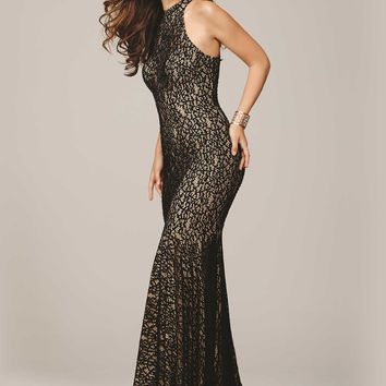 Jovani 25100 Sultry Body Hugging Stretch Lace Evening Dress