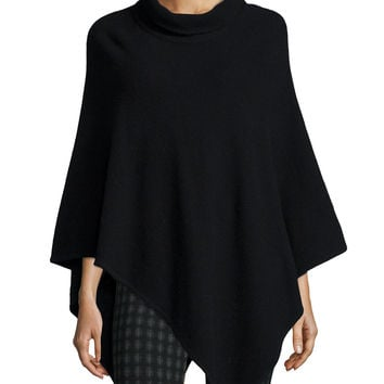 Loysse Mock-Neck Knit Poncho, Size: