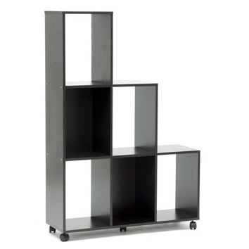 Baxton Studio Hexham Rolling Display Shelving Unit