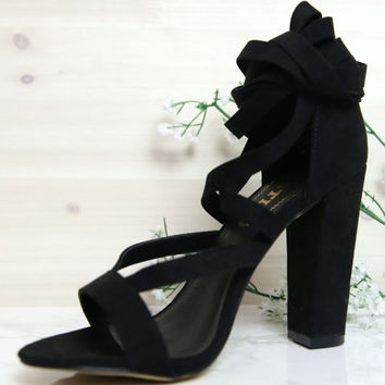 Lipstik Shoes - Gidge Heel - Black Micro