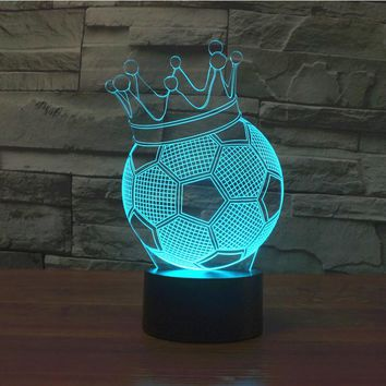 3D LED Championship Football Lamp With 7 Changable Colors