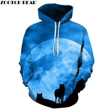 Galaxy Wolf Printed 3D Hoodies Men Brand Hoodie Hot Sale Unisex Sweathsirts Autumn 6XL Pullover Fashion Tracksuits Boy Jackets