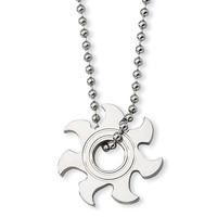 Stainless Steel Sun Burst Necklace SRN141