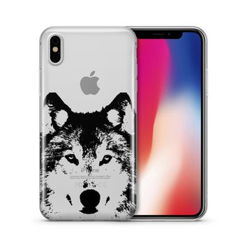Henna Wolf - Clear TPU Case Cover Phone Case