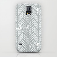 Pastel Gray Chevron Floral iPhone & iPod Case by BeautifulHomes