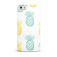 Gold and Mint Pineapple INK-Fuzed Case for the iPhone 5/5S/SE