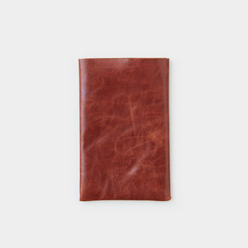 Flap Card Holder - Cognac