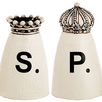 Crown Salt & Pepper Shaker SetMAGENTA