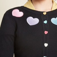 Collectif Short and Sweetheart Cropped Cardigan