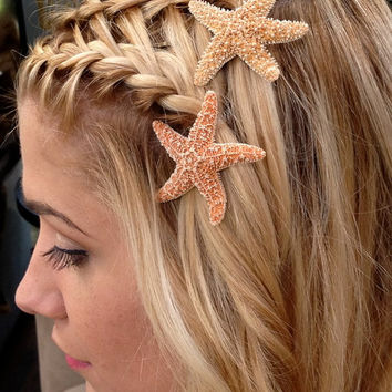 Starfish Hair Pins Beach Hair Accessories by SeashellCollection