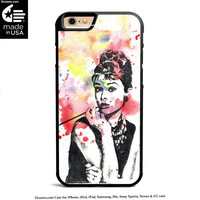 Audrey Hepburn Painting Case for iPhone 4s 5s 5c 6s 6 Plus Case, iPod Case, iPad Case, Samsung Case, HTC Case, Xperia Case, Nexus Case, LG cases
