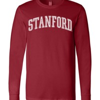 Official NCAA Stanford University Cardinal SU The Stanford Tree ALL RIGHT NOW! Long Sleeve T-Shirt - stan1001-a